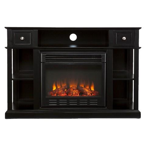 Dawson Electric Media Fireplace - Black