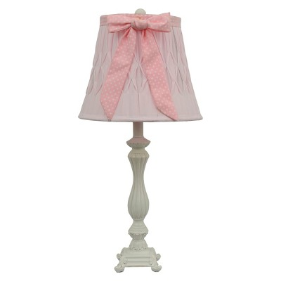 Dotted Bow Table Lamp - Pink (Includes CFL Bulb)