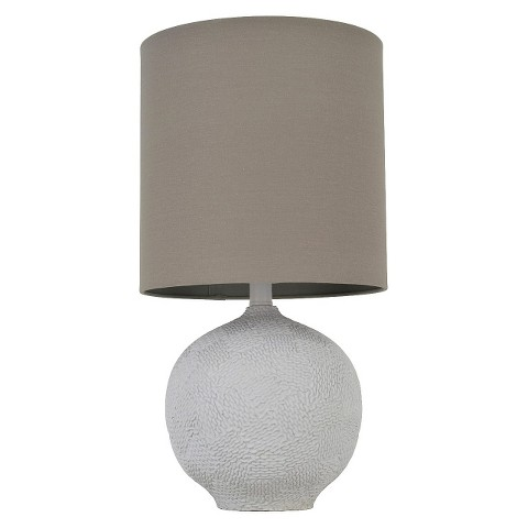 J. Hunt Textured Sphere Table Lamp with Gray Stack Shade (Includes CFL Bulb)