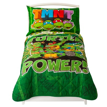 Nickelodeon Teenage Mutant Ninja Turtles 4pc Bed Set - Green (Toddler)