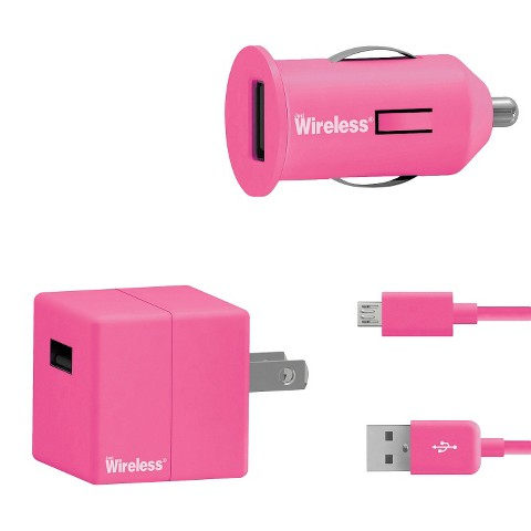 Just Wireless Car Mobile Charger for Smartphones - Pink (24005)