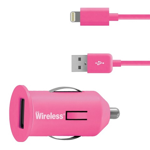 Just Wireless Car Mobile Charger for iPhone 5/5S - Pink (03465)