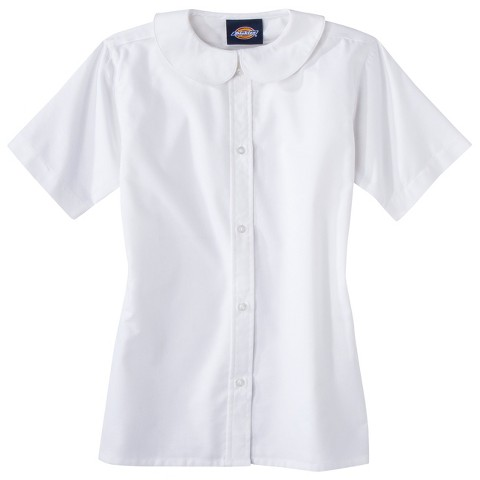 Dickies® Girls' School Uniform Short-Sleeve Peter Pan Blouse