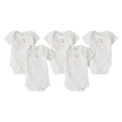Burts Bees Baby™ Newborn 5 Pack Short-sleeve Bodysuits - Cloud 24 M