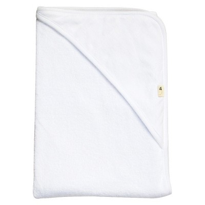 Burt's Bees Baby Organic Double Ply Hooded Knit Terry Towel - Cloud