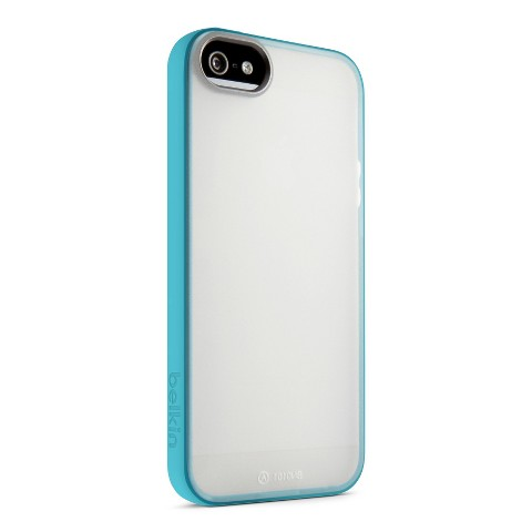 Belkin Grip Candy Cell Phone Case for iPhone 5/5S - White/Blue (F8W168ttC2)