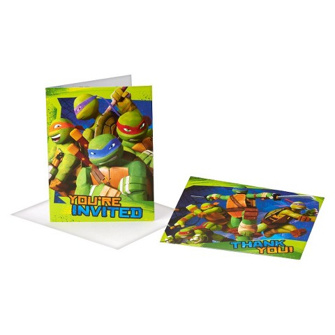 Teenage Mutant Ninja Turtles Invite and Thank You Kit