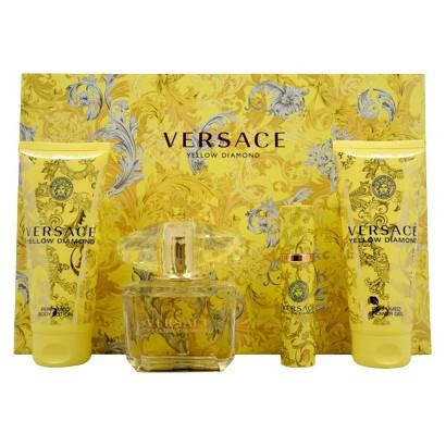 Women's Versace Yellow Diamond by Versace - 4 Piece Gift Set