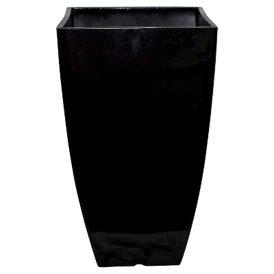 "Threshold™ 21"" Modern Planter Black"