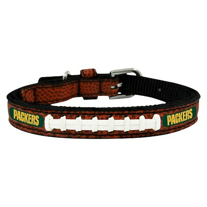 Green Bay Packers Classic Leather Toy Football Collar