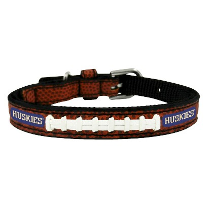 Washington Huskies Classic Leather Toy Football Collar