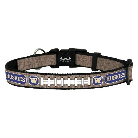Washington Huskies Reflective Toy Football Collar