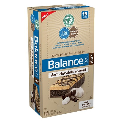 Balance Bar® Dark Chocolate Coconut Nutrition Energy Bars - 15 Count