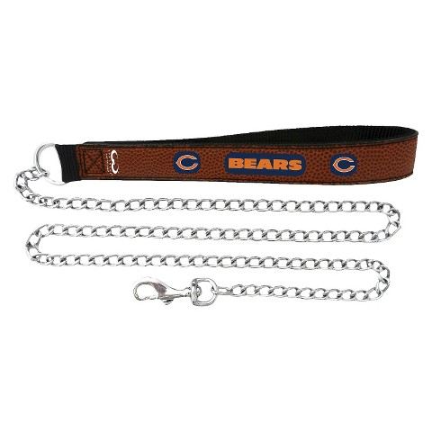 Chicago Bears Leather Chain Leash
