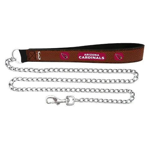 Arizona Cardinals Leather Chain Leash