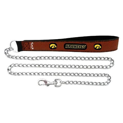 Iowa Hawkeyes Leather Chain Leash
