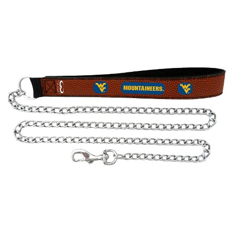 West Virginia Mountaineers Leather Leash