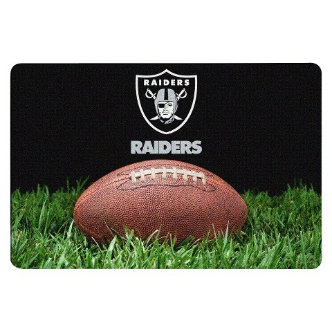 Oakland Raiders Classic NFL Football Pet Bowl Mat - L