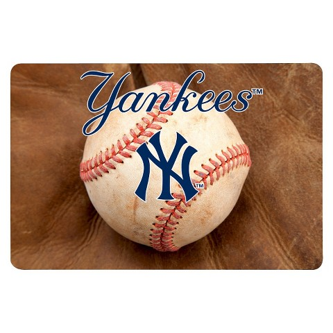 New York Yankees Baseball Pet Bowl Mat-L