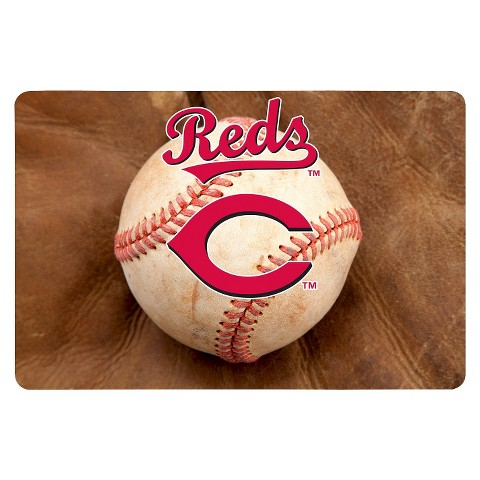 Cincinnati Reds Baseball Pet Bowl Mat-L