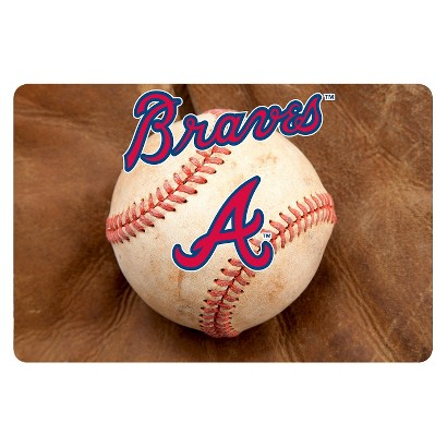 Atlanta Braves Baseball Pet Bowl Mat-L