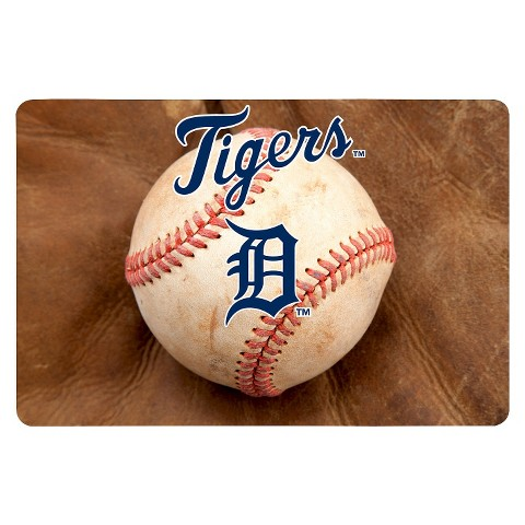 Detroit Tigers Baseball Pet Bowl Mat-L