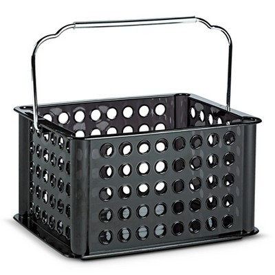 Utility Storage Bin with Handle Black Small Room Essentials™