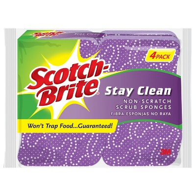 Scotch-Brite™ 4 Pk. Clean Rinse Scrub Sponge