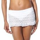 Mossimo® Women's Crochet Mix and Match Skirtini -White