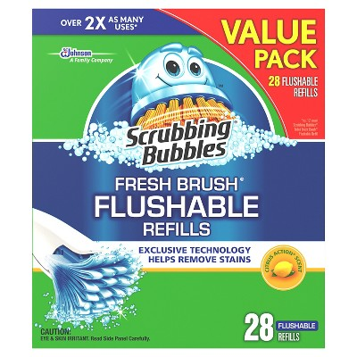 Scrubbing Bubbles® Fresh Brush Flushables Refills with Citrus ACountion Scent - 28 Count