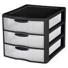 Sterilite Large 3 Drawer Counter Top Storage - Black