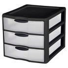 Sterilite Large 3 Drawer Counter Top Storage - Black