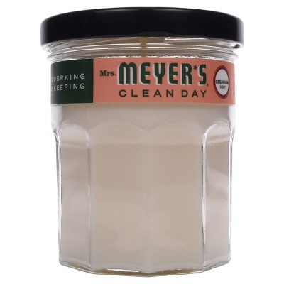 Mrs. Meyer's Scented Soy Candle Geranium - 4.9 oz