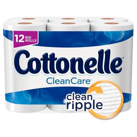 Cottonelle Clean Care Bathroom Tissue 12 Big Rolls