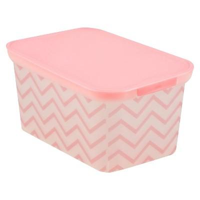 Circo™ Storage Tote - Pink Chevron Small