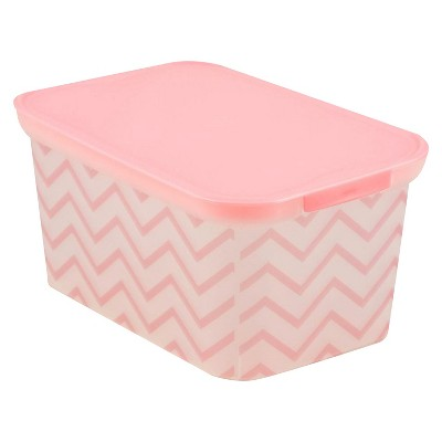Circo™ Storage Bin - Pink Chevron X-Small