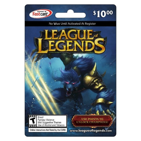 Riot - League of Legends Game Card  $10