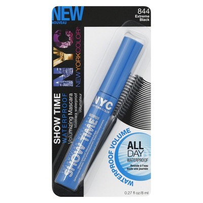 NYC Show Time Volumizing Water Proof Mascara - Extreme Black