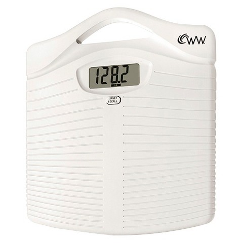 Weight Watchers® Plastic Scale with Handle - White