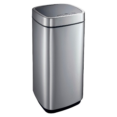 EKO 13.2 GAL. AUTOMATIC SENSOR LID TRASH CAN - STAINLESS STEEL