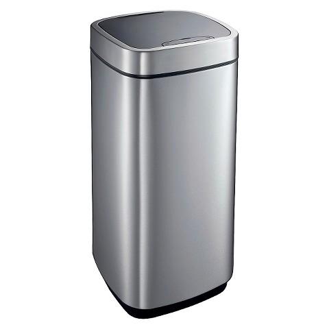 Eko 13.2 Gal. Automatic Sensor Lid Trash Can - Stainless Steel