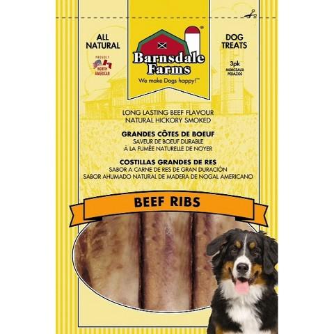 Barnsdale Farm Beef Ribs Dog Treats 3 pk