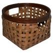 Threshold™ Rattan Round Decorative Basket - Pecan Small
