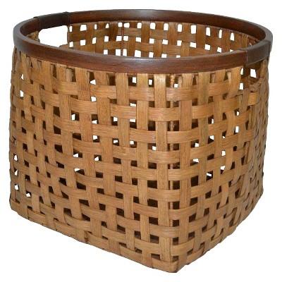 Threshold™ Rattan Round Decorative Basket - Pecan Large