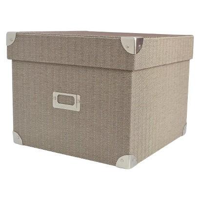 Threshold Hinged Box - Yarn Dye Tan