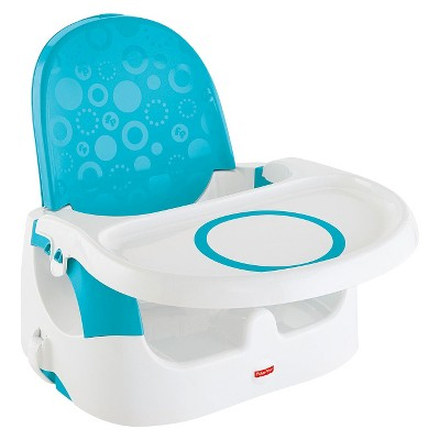 Fisher-Price Deluxe Clean 'n Go Booster - Blue & White
