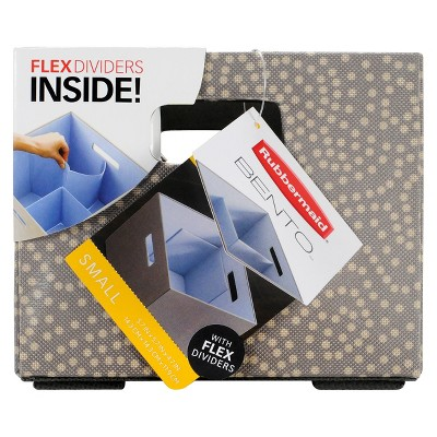 Rubbermaid Fabric Cube - Brown Circles Small