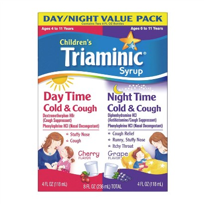 Triaminic® Children's Daytime/Nighttime Cherry and Grape Cold and Cough Syrup - 8 oz