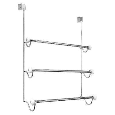 Over-the-Door 3 Bar Towel Rack Satin InterDesign