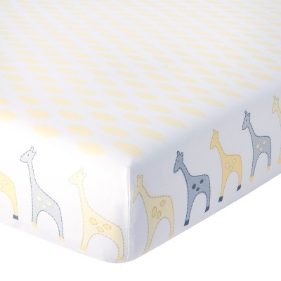 Circo® Duo-Print Fitted Sheet - Yellow Giraffe